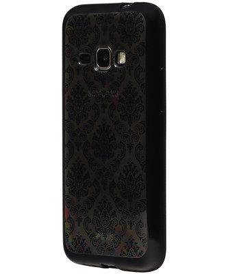 Zwart Brocant TPU back case cover voor Hoesje voor Samsung Galaxy J2 2016