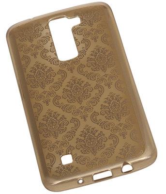 Goud Brocant TPU back case cover voor Hoesje voor LG K8