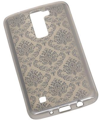 Zilver Brocant TPU back case cover voor Hoesje voor LG K10