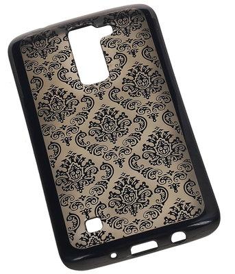 Zwart Brocant TPU back case cover voor Hoesje voor LG K10
