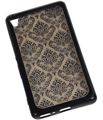 Zwart Brocant TPU back case cover voor Hoesje voor Sony Xperia XA