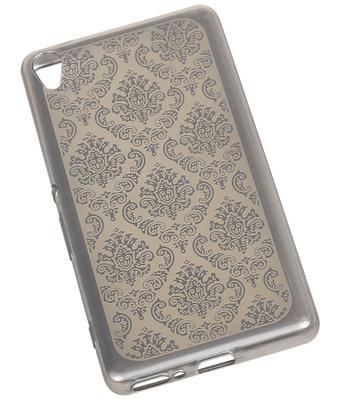 Zilver Brocant TPU back case cover voor Hoesje voor Sony Xperia X