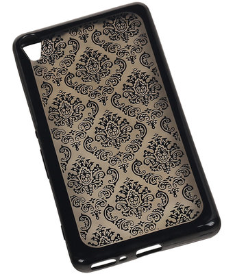 Zwart Brocant TPU back case cover voor Hoesje voor Sony Xperia X