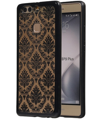 Zwart Brocant TPU back case cover hoesje voor Huawei P9 Plus
