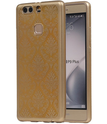 Goud Brocant TPU back case cover hoesje voor Huawei P9 Plus