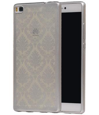 Zilver Brocant TPU back case cover voor Hoesje voor Huawei P8