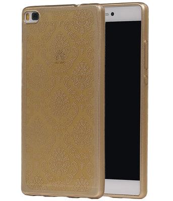 Goud Brocant TPU back case cover voor Hoesje voor Huawei P8
