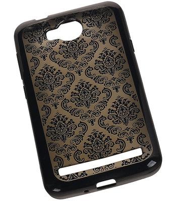 Zwart Brocant TPU back case cover voor Hoesje voor Huawei Y3 II / Y3 2