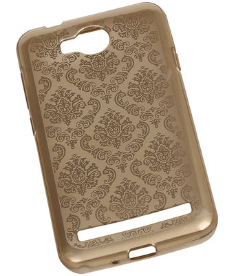 Goud Brocant TPU back case cover voor Hoesje voor Huawei Y3 II / Y3 2