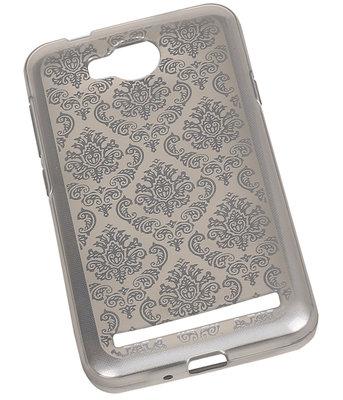 Zilver Brocant TPU back case cover voor Hoesje voor Huawei Y3 II / Y3 2