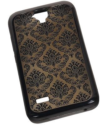 Zwart Brocant TPU back case cover voor Hoesje voor Huawei Y560 / Y5