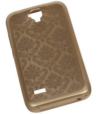 Goud Brocant TPU back case cover voor Hoesje voor Huawei Y560 / Y5
