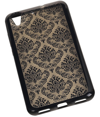 Zwart Brocant TPU back case cover voor Hoesje voor Huawei Honor Y6 II