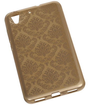 Goud Brocant TPU back case cover voor Hoesje voor Huawei Honor Y6 II