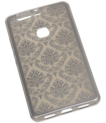 Zilver Brocant TPU back case cover hoesje voor Huawei Honor V8