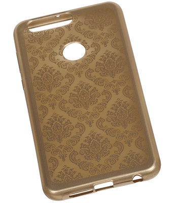 Goud Brocant TPU back case cover voor Hoesje voor Huawei Honor 8