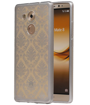 Zilver Brocant TPU back case cover voor Hoesje voor Huawei Mate 8
