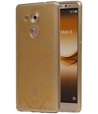 Goud Brocant TPU back case cover voor Hoesje voor Huawei Mate 8