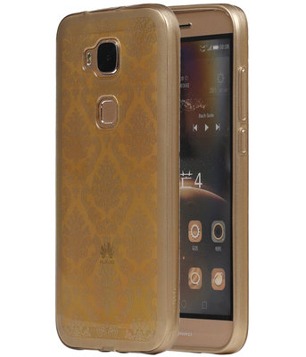 Goud Brocant TPU back case cover voor Hoesje voor Huawei G8