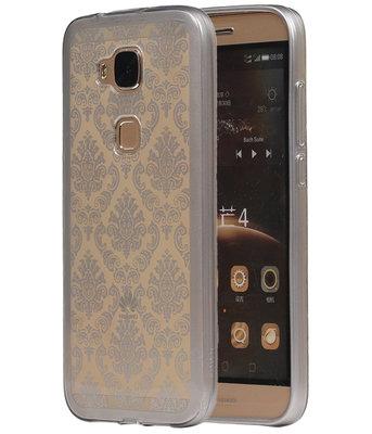 Zilver Brocant TPU back case cover voor Hoesje voor Huawei G8