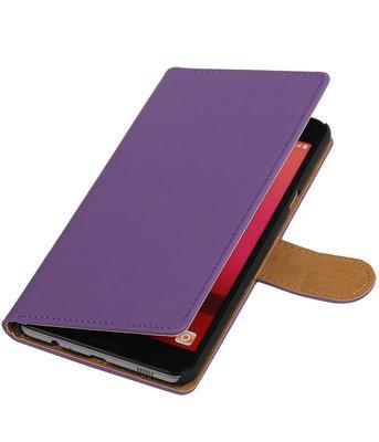 Paars Effen booktype wallet cover voor Hoesje voor Samsung Galaxy C7