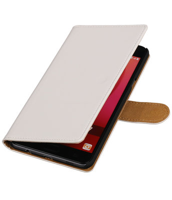 Wit Effen booktype wallet cover voor Hoesje voor Samsung Galaxy C7