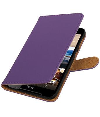 Paars Effen booktype wallet cover voor Hoesje voor HTC Desire 830