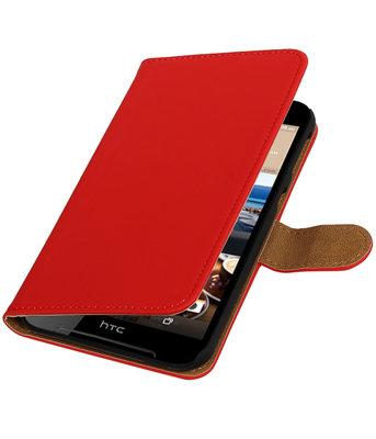 Rood Effen booktype wallet cover voor Hoesje voor HTC Desire 830