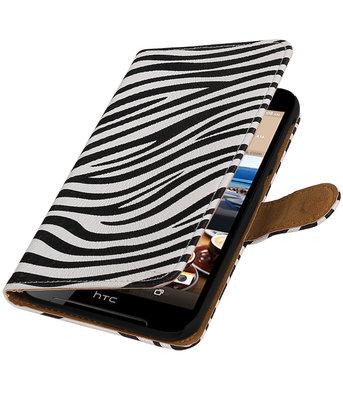 Zebra booktype wallet cover voor Hoesje voor HTC Desire 830