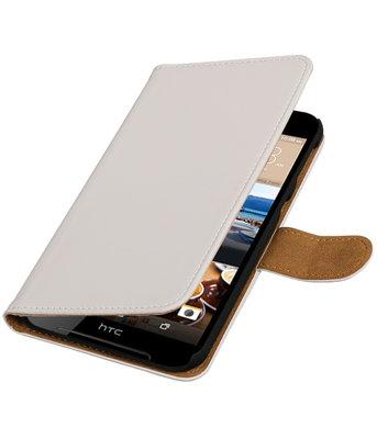 Wit Effen booktype wallet cover voor Hoesje voor HTC Desire 830