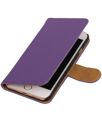 Paars Effen booktype wallet cover hoesje voor Apple iPhone 7 / 8