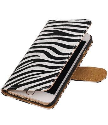 Zebra booktype wallet cover hoesje voor Apple iPhone 7 / 8