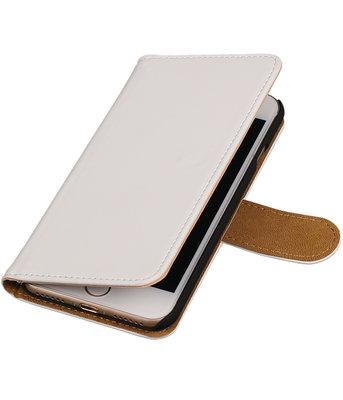 Wit Effen booktype wallet cover hoesje voor Apple iPhone 7 / 8
