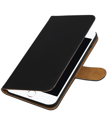 Zwart Effen booktype wallet cover hoesje voor Apple iPhone 7 Plus / 8 Plus