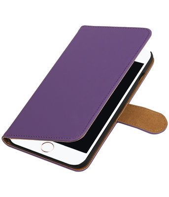 Paars Effen booktype wallet cover hoesje voor Apple iPhone 7 Plus / 8 Plus