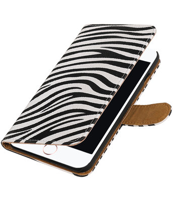 Zebra booktype wallet cover hoesje voor Apple iPhone 7 Plus / 8 Plus