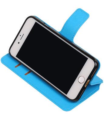 Blauw Hoesje voor Apple iPhone 7 / 8 TPU wallet case booktype HM Book