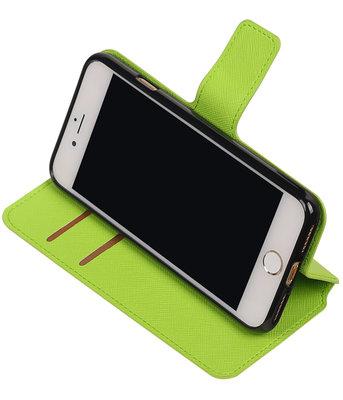 Groen Hoesje voor Apple iPhone 7 / 8 TPU wallet case booktype HM Book