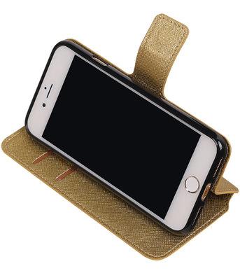 Goud Hoesje voor Apple iPhone 7 / 8 TPU wallet case booktype HM Book