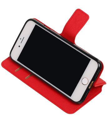 Rood Hoesje voor Apple iPhone 7 / 8 TPU wallet case booktype HM Book