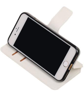 Wit Hoesje voor Apple iPhone 7 / 8 TPU wallet case booktype HM Book