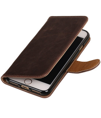 Mocca Pull-Up PU booktype wallet voor Hoesje voor Apple iPhone 7 / 8