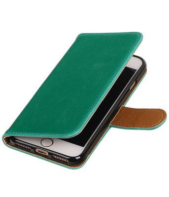 Groen Pull-Up PU booktype wallet hoesje voor Apple iPhone 7 / 8
