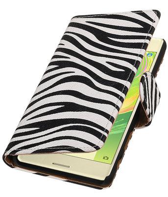 Zebra booktype cover voor Hoesje voor Sony Xperia X