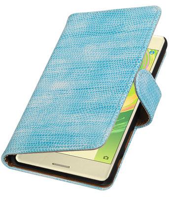 Turquoise Mini Slang booktype cover voor Hoesje voor Sony Xperia X