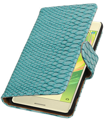 Turquoise Slang booktype cover hoesje voor Sony Xperia X