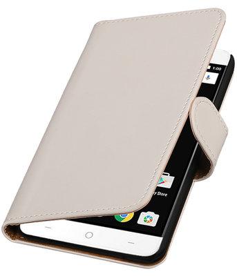 Wit Effen booktype wallet cover voor OnePlus X