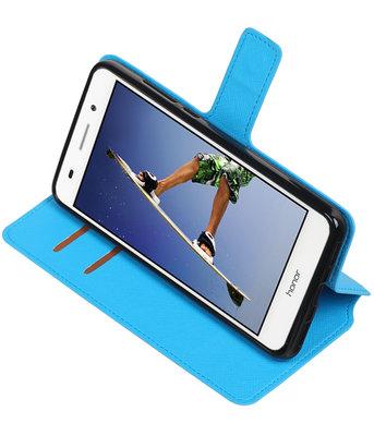 Blauw Hoesje voor Huawei Honor Y6 II TPU wallet case booktype HM Book