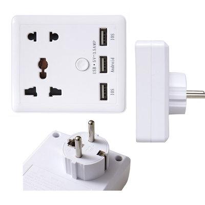 Universeel adapter / thuislader met 3 USB 3.5 Ampère poorten