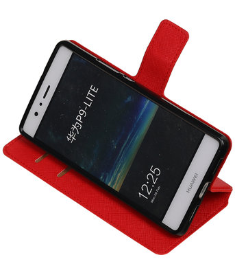 Rood Huawei P9 Lite TPU wallet case booktype hoesje HM Book